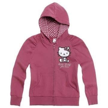Hanorac cu fermoar Hello Kitty